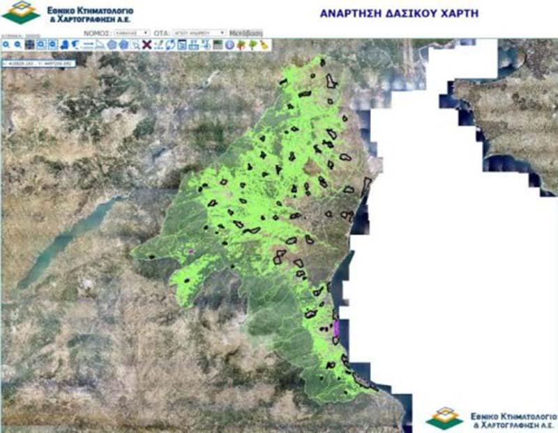 Πιερία | Παράταση για την υποβολή αντιρρήσεων στους δασικούς χάρτες έως 15/11