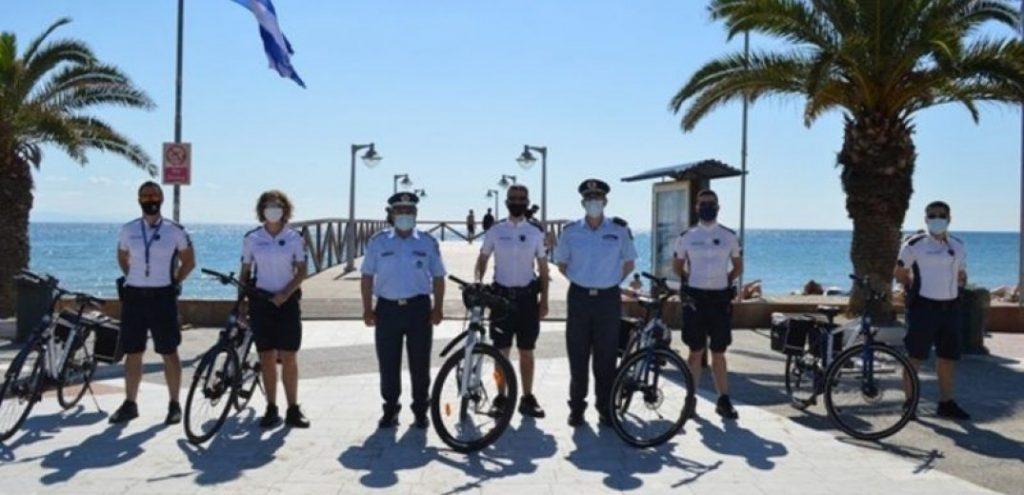 Στους δρόμους της Πιερίας οι αστυνομικοί με ποδήλατα
