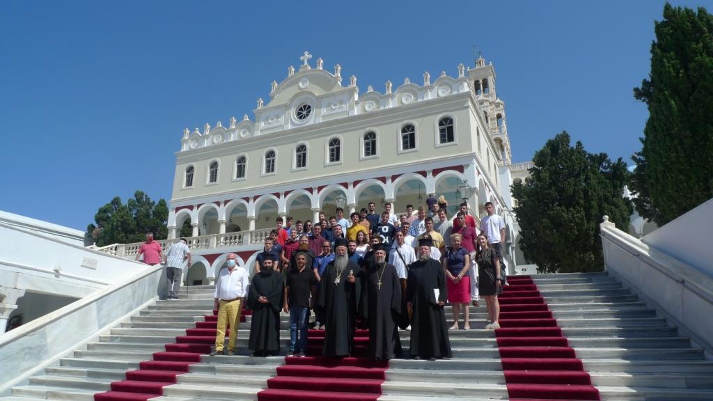 Προσκυνηματική και εκπαιδευτική εκδρομή μελών Γραφείου Νεότητας της Ιεράς Μητροπόλεως  Κίτρους στην Τήνο