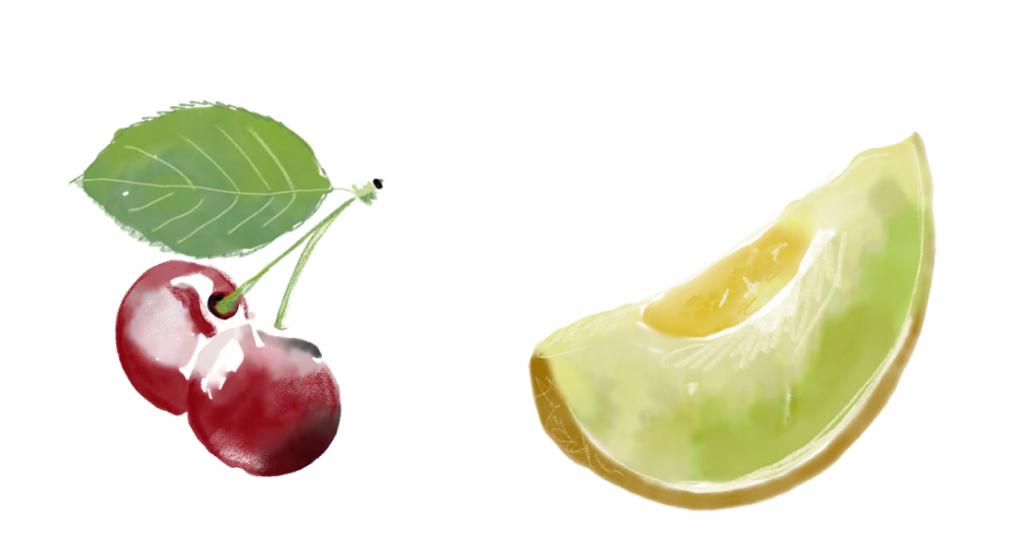 Φρούτα καλοκαιρινά και κρασί