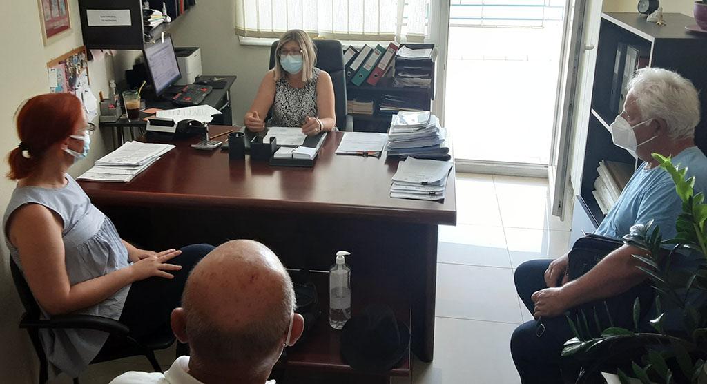 Συνάντηση Σκούφα & αντιπροσωπείας του ΣΥΡΙΖΑ-ΠΣ με τη διευθύντρια του τμήματος κοινωνικής  επιθεώρησης εργασίας