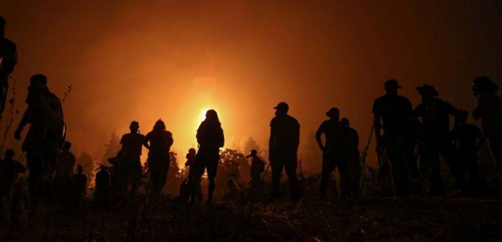 Δίχως τέλος ο πύρινος εφιάλτης στην Εύβοια (8η ημέρα)