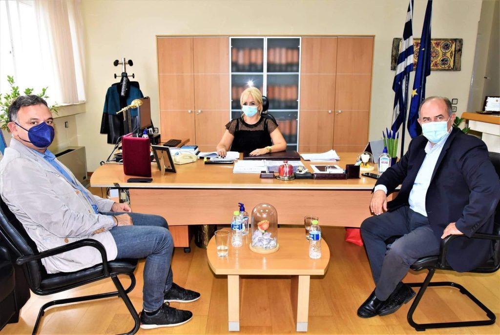 Επίσκεψη του Γενικού Γραμματέα του υπουργείου Πολιτισμού στην Αντιπεριφερειάρχη Πιερίας