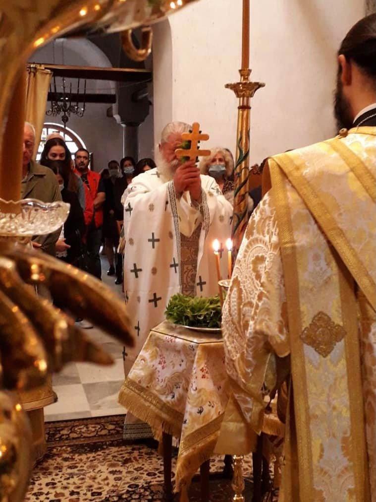 Εορτάσθηκε η Ύψωση του Τιμίου  Σταυρού στην παλαιά Ιερά Μονή Αγίου Διονυσίου στον Ολύμπο