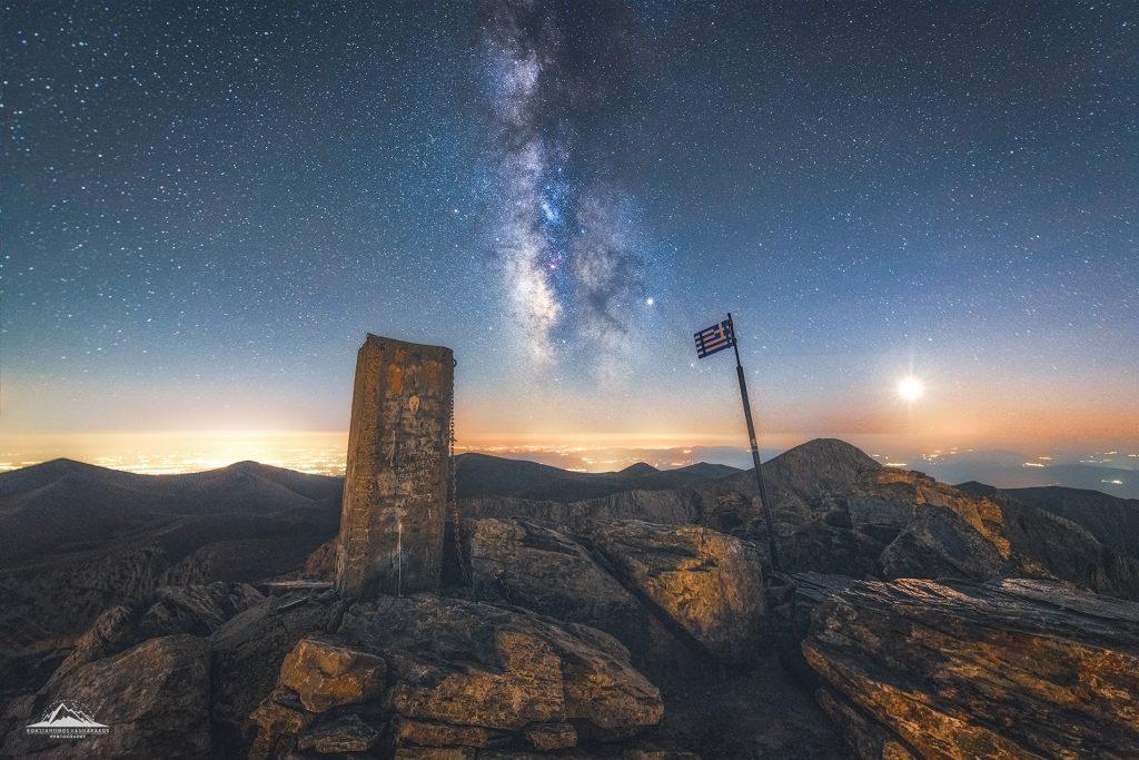 Ο Γαλαξίας μας στην κορυφή του Ολύμπου
